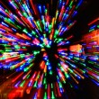 Explosion of colored lights — Stock Photo