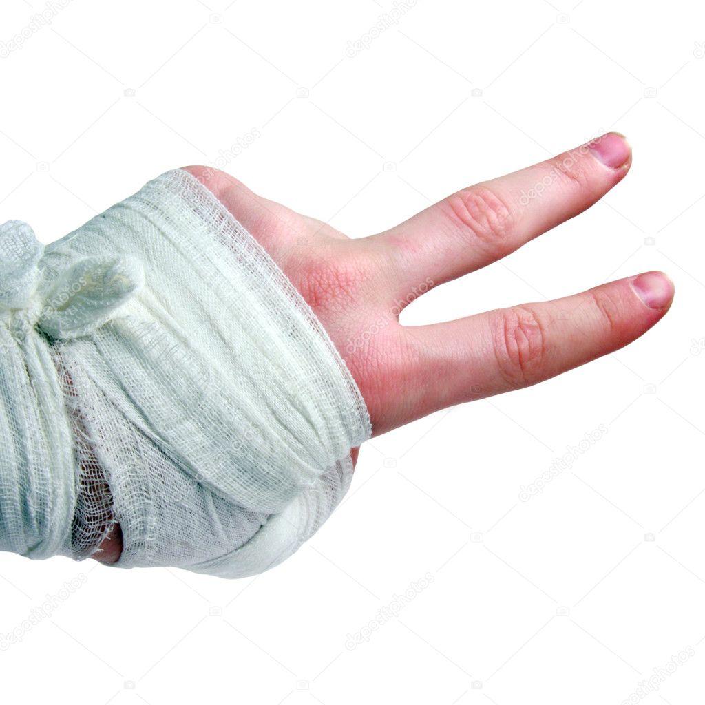 Bandaged hand brush — Stock Photo © aliola #1445667