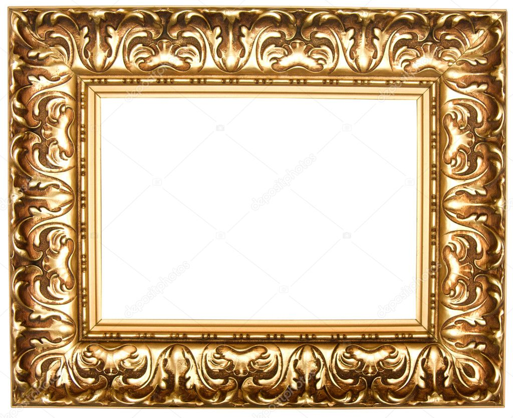 Frame for painting, on a white background.  Foto Stock #1141885