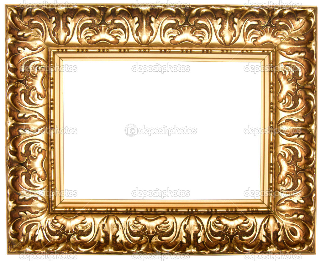 Square gold frame png