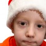 Boy in Santa cap — Stock Photo