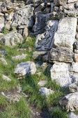 Um muro de pedra antigo — Foto Stock