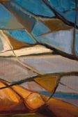 Pintura a óleo abstrata — Foto Stock