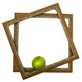 Maçã verde em escopos verdes — Foto Stock