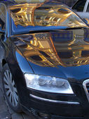 Reflexões no carro — Foto Stock