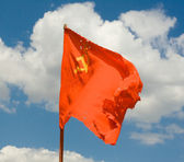 Soviet red flag — Stock Photo