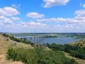 A ponte através do rio don — Foto Stock