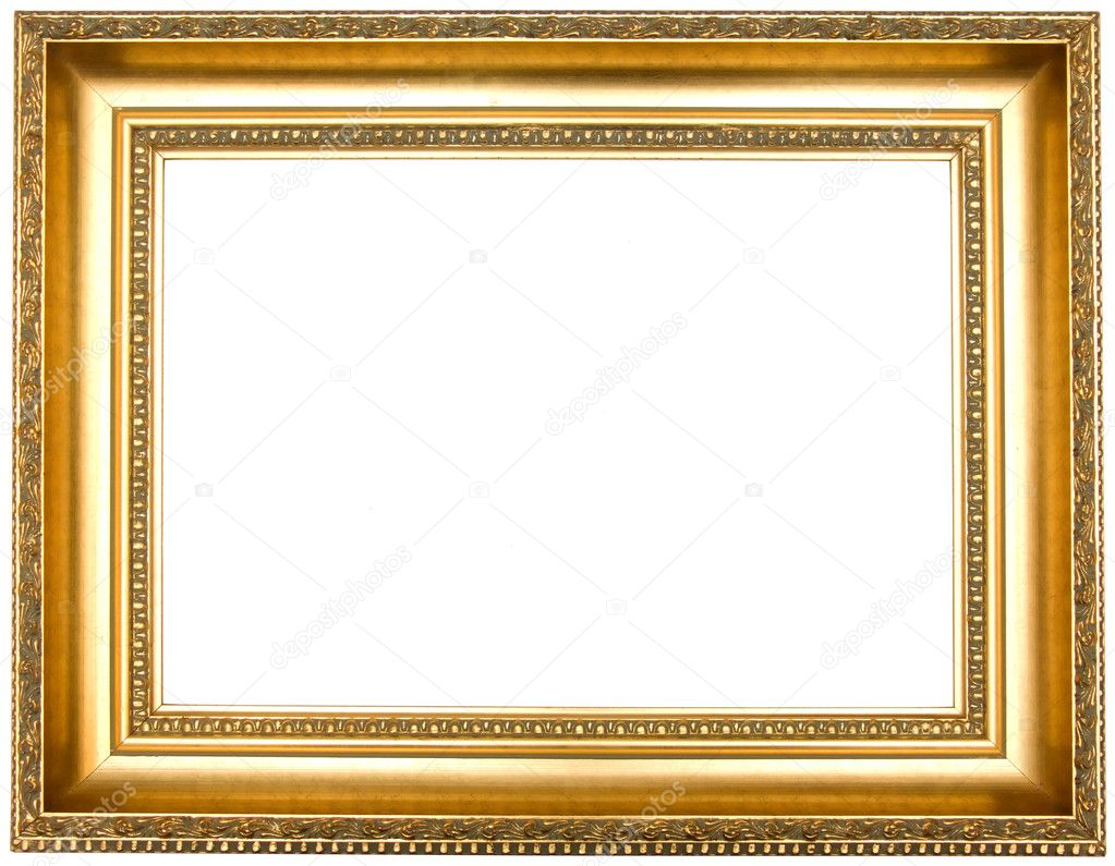 Frame for painting, on a white background.  Zdjcie stockowe #1230992