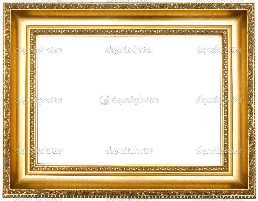 Frame for painting, on a white background. — ストック写真 #1230992