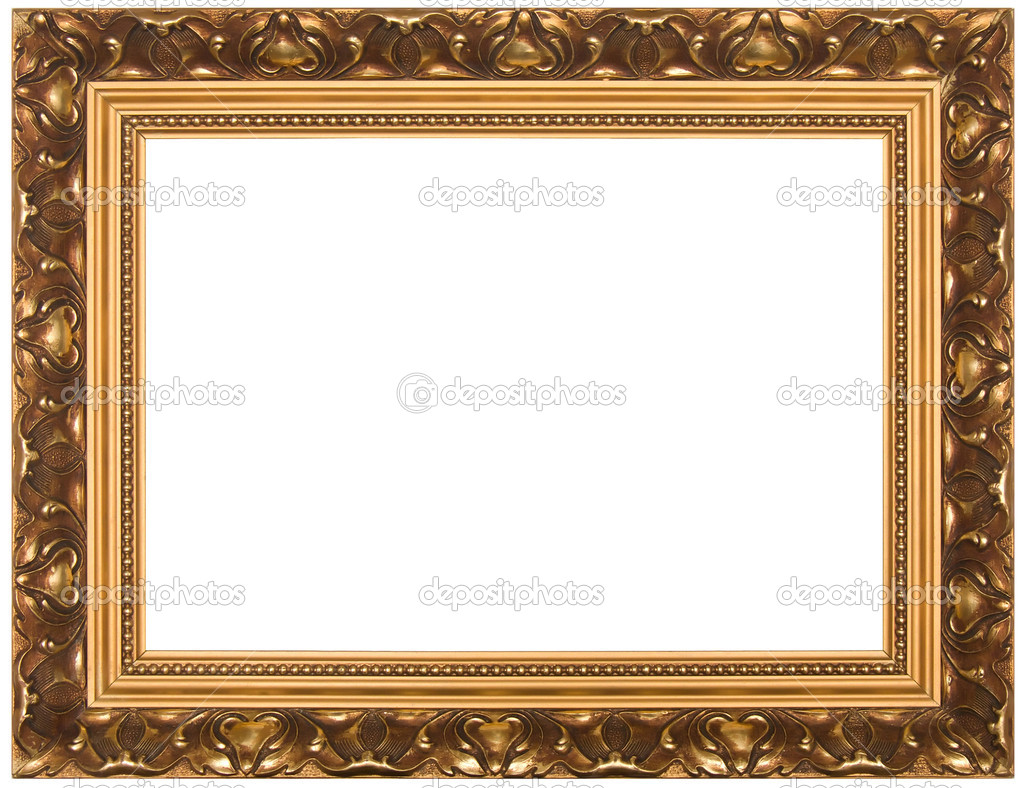 Frame for painting, on a white background. — Stock Photo #1230999