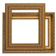 Gold frames for painting and foto — Stock Photo