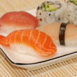 Piece of sushi - close-up — Stock Photo