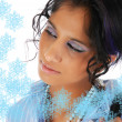 Royalty-Free Stock Photo: Beautiful Christmas girl with snow flake