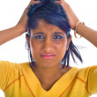 Brown girl being stressed — Stock Photo