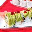 Green dragon maki — Stock Photo