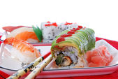 Sushi and maki — Stock Photo