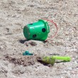 Toy bucket and shovel, abandoned at the - 