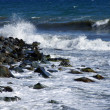 Wet stones in waves of the Black Sea — Stock Photo