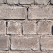 Old wall from a rough grey brick. backgr — Stok fotoğraf