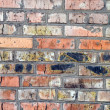 Old wall from a red brick. background 2 — Foto Stock
