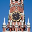 Clock on the Kremlin tower in Moscow — Stock Photo
