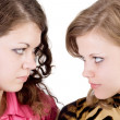 Portrait of the two beauty young women. — Stock Photo
