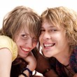 Portrait of smiling young beauty couple — Stock Photo #1105933