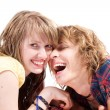 Portrait of smiling young beauty couple — Stock Photo #1105966