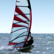 Windsurfer on waves of a sea 3 — Stock Photo