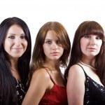 Portrait of three beautiful young women. — Stock Photo