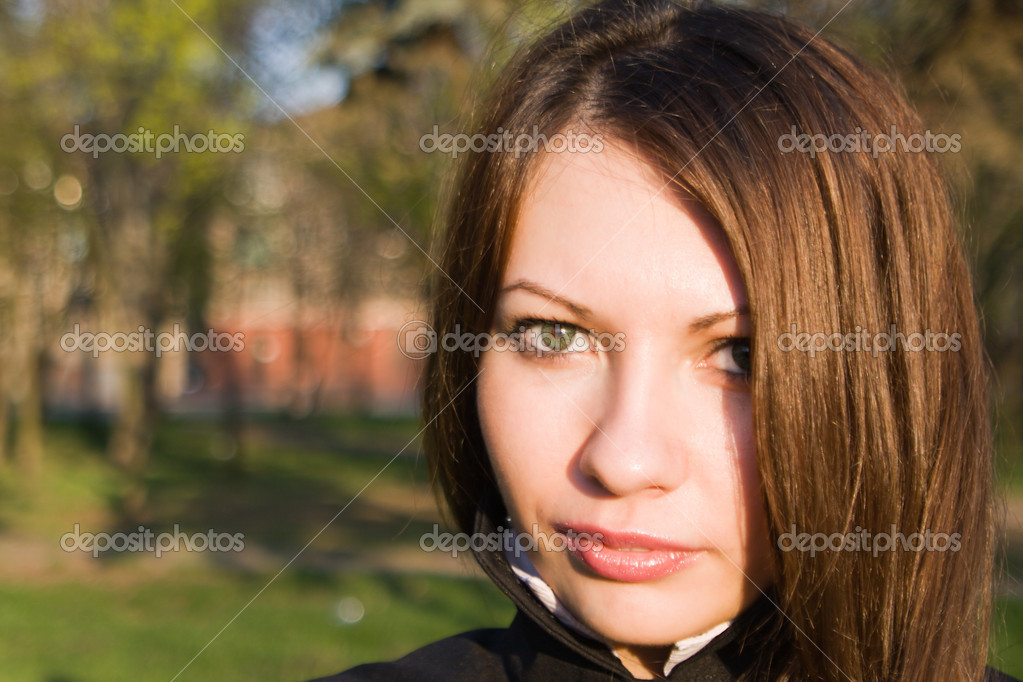 Portrait of the nice girl outdoor 4  Stock Photo #1105094