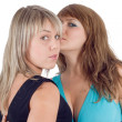 Two playful beautiful young women. Isola — Stock Photo