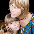 Portrait of the young beauty couple — Stock Photo