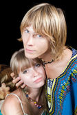 Portret van de jonge schoonheid paar — Stockfoto