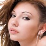 美丽的年轻女子的画像。我 — 图库照片 #1166546