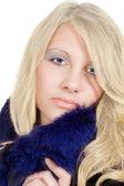 冰的视线的金发的肖像 — 图库照片