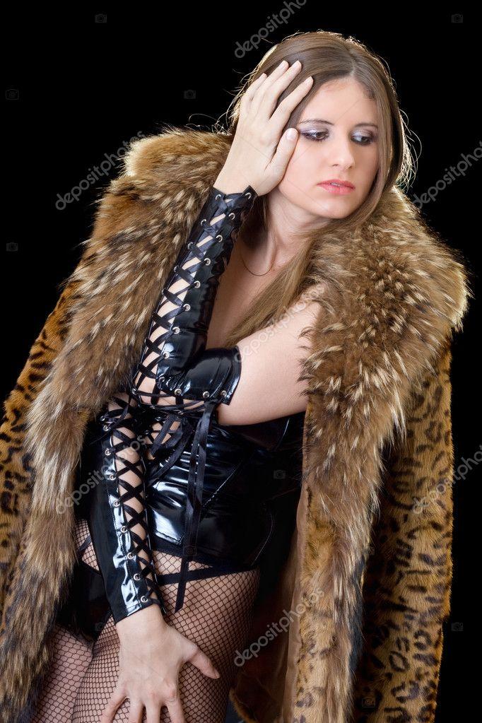 Секс фетиш в мехах шубе шубке