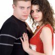 Royalty-Free Stock Photo: Portrait of the beautiful young couple.