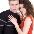 Royalty-Free Stock Photo: Portrait of the attractive young couple.