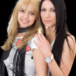 Portrait of the young brunette and blond — Stock Photo #1211013