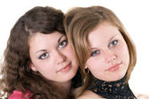 Portrait of the two beauty young women. — Foto Stock