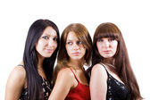 Portrait of three beautiful young women. — Stock Photo