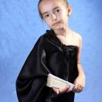 The girl in a black kimono — Stock Photo #1126154