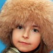 Girl in fur cap — Stock Photo #1126256