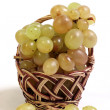Royalty-Free Stock Photo: Ripe vine in a basket and next to her.