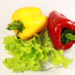 Red and yellow sweet pepper — Stock Photo #1169140