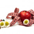 Apples, camomiles and centimetre. — Foto de Stock