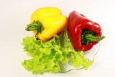Red and yellow sweet pepper — Stock Photo