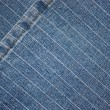 Texture a dark blue jeans — Stock Photo