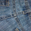 Texture jeans pockets and lines — Stock Photo